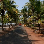 Rua perto do Ashram